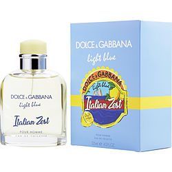 D & G Light Blue Italian Zest Pour Homme By Dolce & Gabbana Edt Spray 4.2 Oz