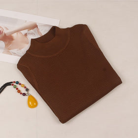 Autumn Winter Women Pullovers Sweater Knitted Elasticity Casual Jumper Turtleneck Sweaters