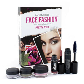 BareMinerals Face Fashion Collection (Blush + 2x Eye Color + Mascara + Lipcolor) - The Look Of Now Pretty Wild - 5pcs