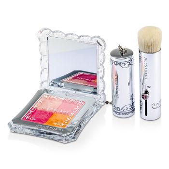 Mix Blush Compact N (4 Color Blush Compact + Brush) - # 02 Fresh Apricot - 8g/0.28oz
