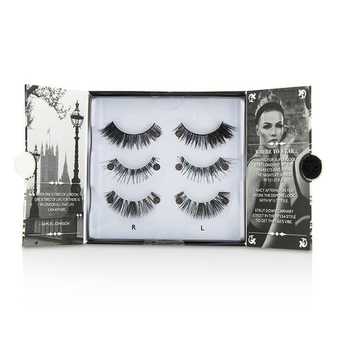 The London Edit False Lashes Multipack - # 121, # 117, # 154 (Adhesive Included) - 3pairs