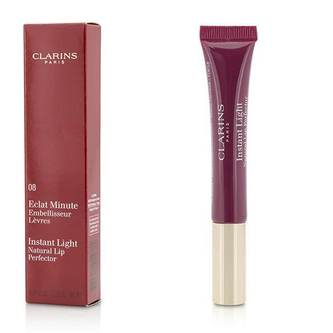 Eclat Minute Instant Light Natural Lip Perfector - # 08 Plum Shimmer - 12ml/0.35oz