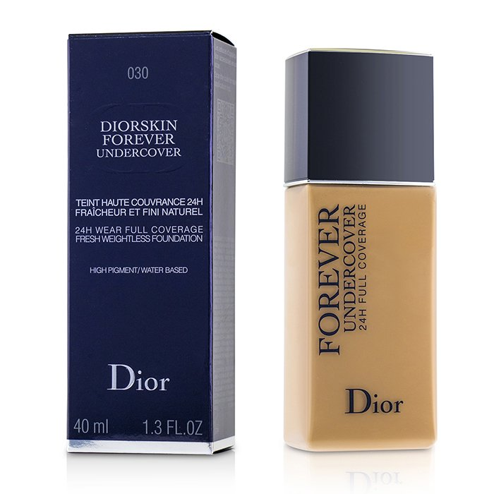 Diorskin Forever Undercover 24H Wear Full Coverage Water Based Foundation - # 030 Medium Beige - 40ml/1.3oz