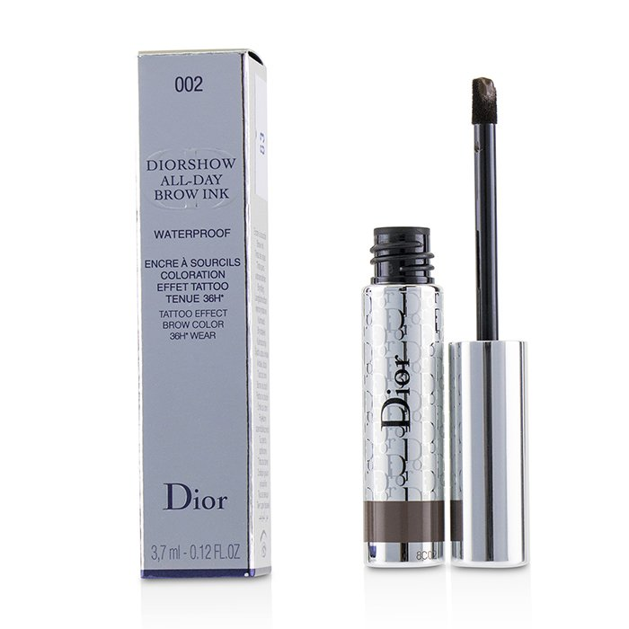 Diorshow All Day Waterproof Brow Ink - # 002 Dark - 3.7ml/0.12oz
