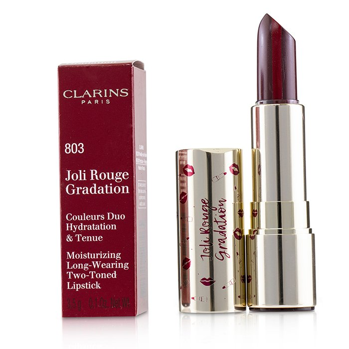 Joli Rouge Gradation Lipstick (Moisturizing Long Wearing Two Toned Lipstick) - # 803 Plum Gradation - 3.5g/0.1oz