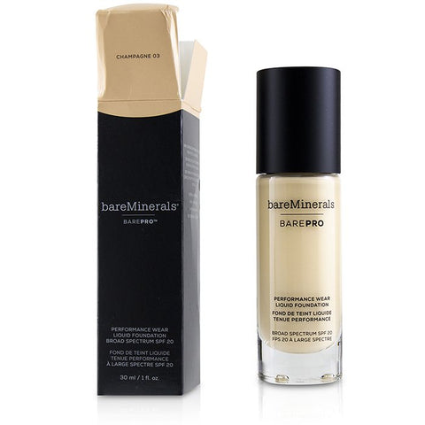 BarePro Performance Wear Liquid Foundation SPF20 - # 03 Champagne (Box Slightly Damaged) - 30ml/1oz