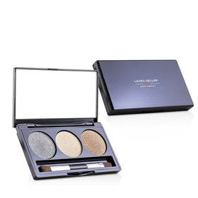 Baked Cream Glaze Trio Eyshadow Palette With Brush Duo Pack - # Golden Sunset - 2x3g/0.1oz