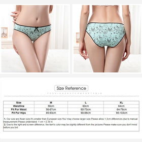 Women Striped Print Panties Cotton women's briefs sexy low-waist panties Kawaii Girls Ladies Cotton underwear Size M-XL 3pcs/lot