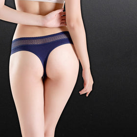 Women's Sexy Thong Cotton Panties Lace Underwear Women Briefs Panty Thongs G Strings Ladies Bikini T Back Female 3pcs/set