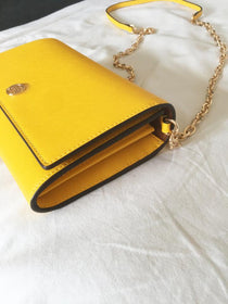 Tory Burch Robinson Wallet On Chain Bag (Yellow)