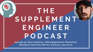 "Episode #42: Upcoming Features at Supplement Engineer, CNS Supplements PhysoFuel Review, Metabolic Nutrition ESP Preworkout, ""Dangerous"" Caffeine levels, and more with SupplementSnoop"