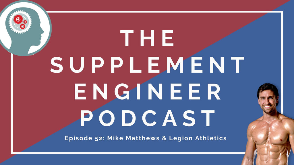 Episode #52 of the Supplement Engineer Podcast features Mike Matthews, founder of Legion Athletics. We discuss the origins of Legion, what drives product creation, and how to avoid selling out for a big paycheck.