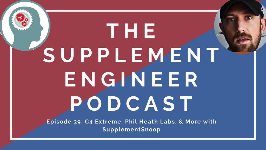 Episode #39 of the Supplement Engineer Podcast Justin Hall, founder of SupplementSnoop, joins me to discuss several recent supplement releases including the new Cellucor C4 Extreme, SNS Thermagize XT, and more.