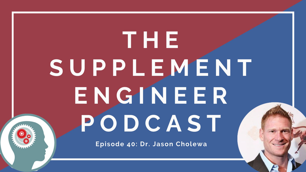 Episode #40 of the Supplement Engineer Podcast features Dr. Jason Cholewa, founder of Big Red Physical Performance, prominent supplement researcher, and bodybuilder.