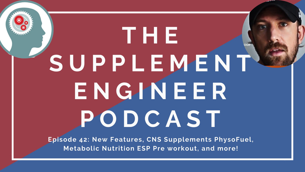 Episode #42 features Justin Hall of SupplementSnoop returning for another Q&A session as we discuss recent product releases, CNS Supplements PhysoFuel pre workout, nootropics timing, supplement consultations, and more!
