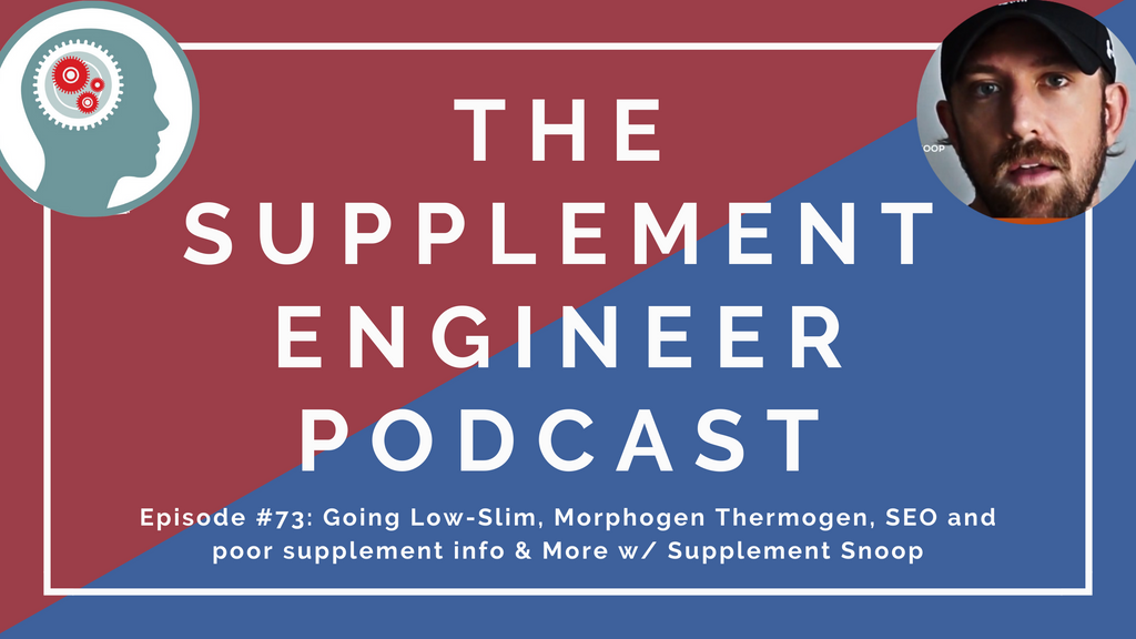 Episode #73 of the Supplement Engineer podcast features Glaxon Flight and Sedative sleep formula reviews, Core Nutrition Pro Protein blend update, SNS caffeine 501, Morphogen Thermogen, and more with Supplement Snoop.