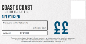 Digital Coast to Coast Gift Vouchers