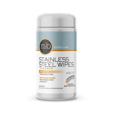 MB Stone Care MB-19 Stainless Steel Wipes