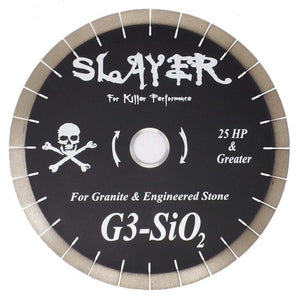 Slayer G3SIO2 Silent Core Granite Blade - 16 Inch