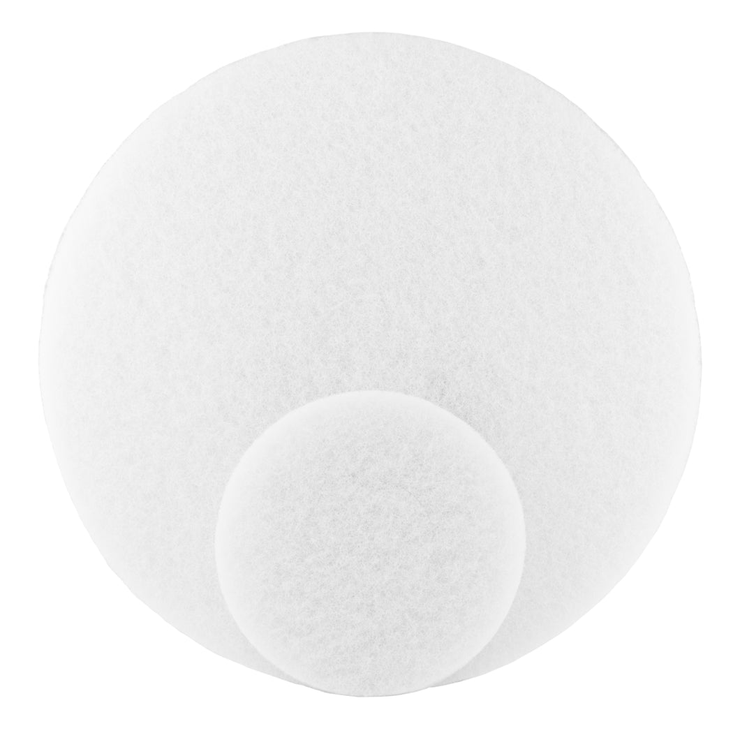 White Fiber Polishing Pads