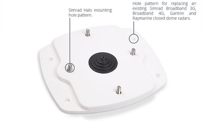 Simrad Halo Hard Top Adapter Mount Plate-Adapter Plates-Seaview-Seaview Global