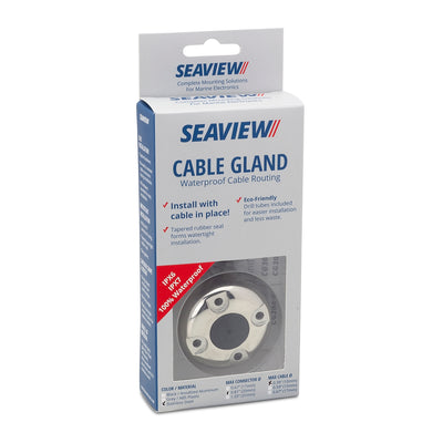 Cable Glands-Cable Glands-Seaview Fits up to 1/2 inch diameter cable / Up to .81 inch diameter connector-High Polished 316 S.S.-Seaview Global