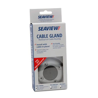 Cable Glands-Cable Glands-Seaview Fits up to 1 inch diameter cable / Up to 1.75 inch diameter connector-Grey GF ABS Plastic-Seaview Global
