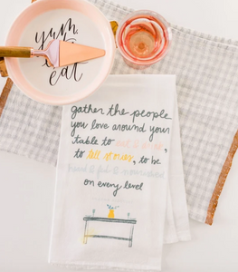 Gather flour sack towel