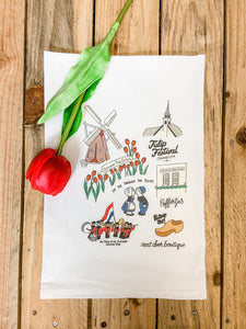 Tulip Festival Highlight Flour Sack Towel