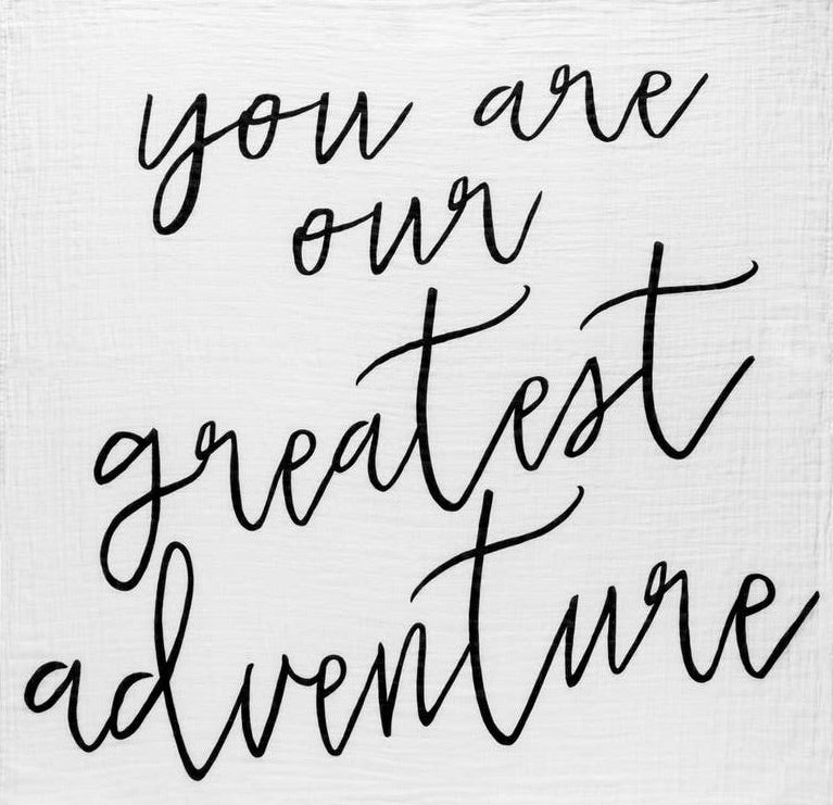 You are our greatest adventure swaddle