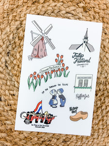 Tulip Festival Highlight Sticker Sheet
