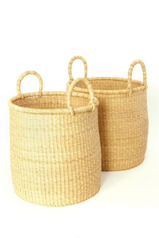 african basket hamper all natural elephant grass home storage organization ethical ecofriendly fair trade high quality