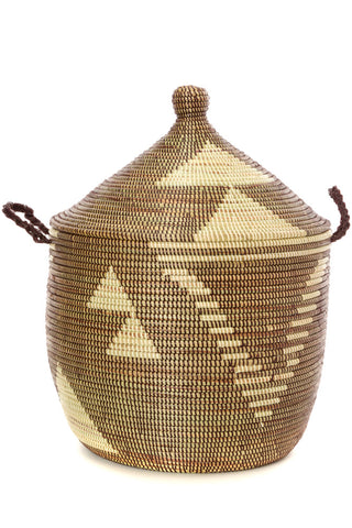 African Woven Basket Handmade Natural Tribal Design Fair-Trade Eco-friendly Ethical Home Decor Home Storage Organization