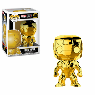 Marvel Studio The First 10 Years Iron Man Chrome Funko POP