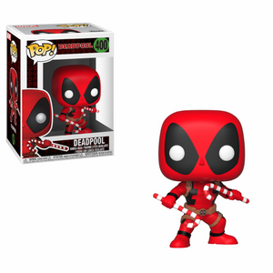 Marvel Holiday Deadpool with Candy Canes Funko POP