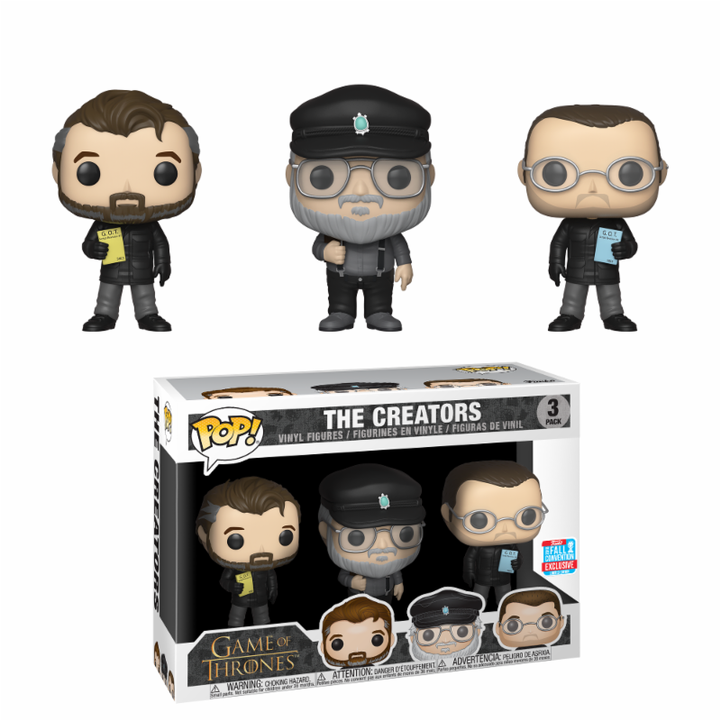 Game of Thrones 3-Pack The Show Creators 2018 Fall Convention Exclusive Funko POP box damage