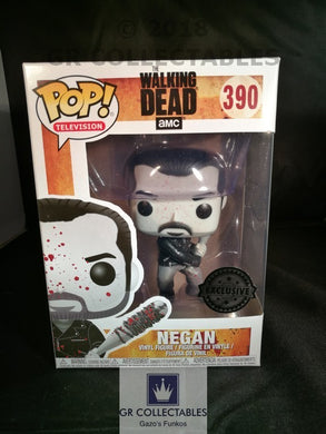 TV The Walking Dead Bloody Negan Black and White Exclusive Funko POP
