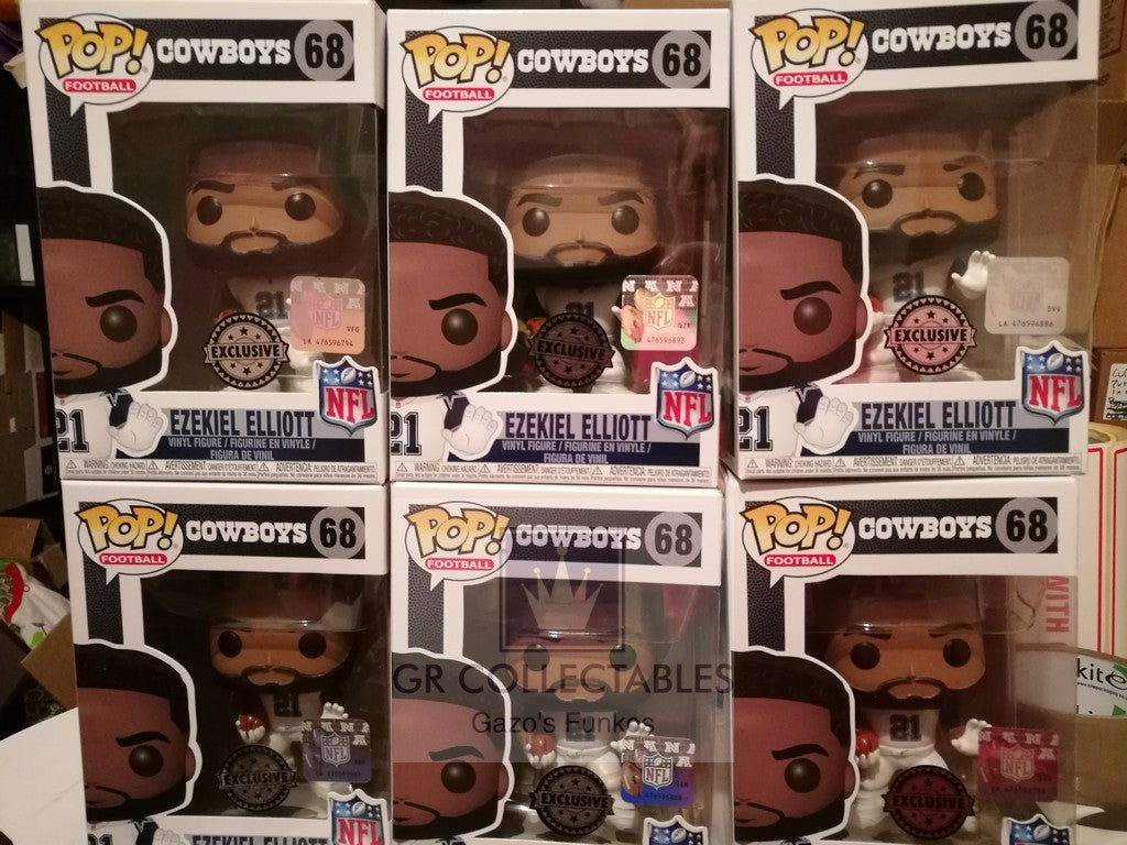 Sport NFL Dallas Cowboys Ezekiel Elliott Colour (Color) Rush Exclusive Funko POP