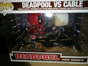 Movie Moment: Deadpool vs Cable Funko POP - box damage 9/10