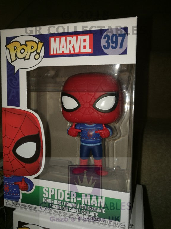Marvel Holiday Spider-Man with Ugly Sweater Funko POP