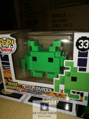 Gaming Retro 8 bit Medium Space Invader Funko POP! Vinyl