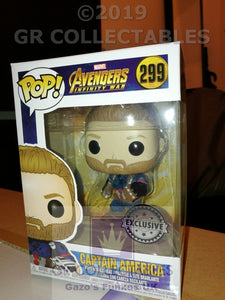 Movies: Avengers Infinity War Captain America with Gloves Exclusive Funko POP