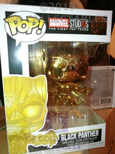 Marvel Studio The First 10 Years Black Panther Chrome Funko POP