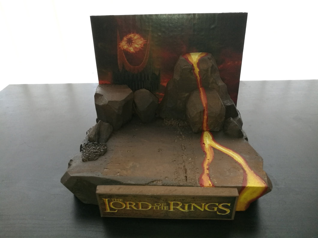 LOTR LORD OF THE RINGS MOUNT DOOM DISPLAY FUNKO POP DORBZ MYSTERY MINIS