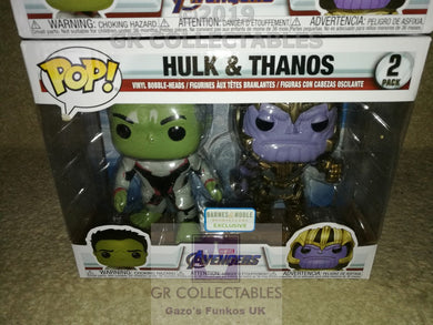 Movies: Avengers Endgame Hulk & Thanos 2 pack Barnes & Noble Exclusive Funko POP