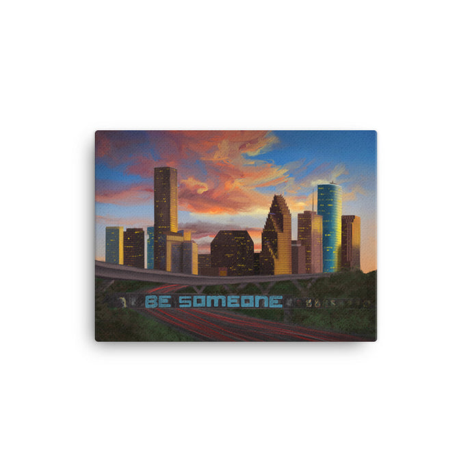 Houston Sunset Canvas