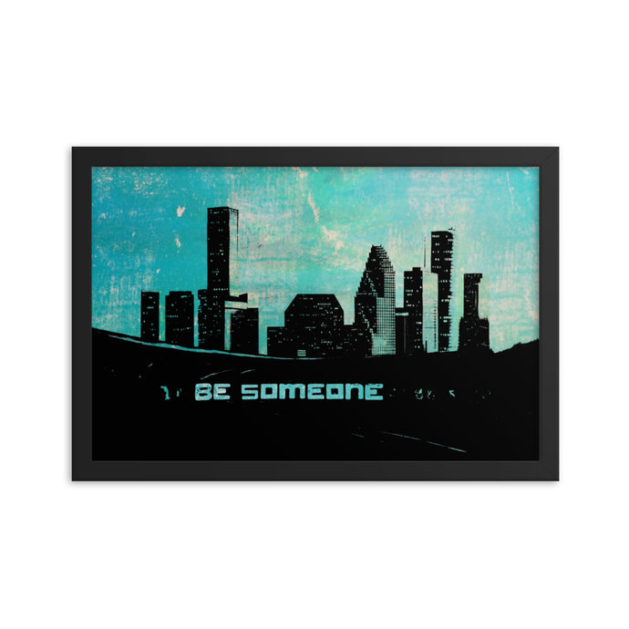 Urban Houston Framed Print