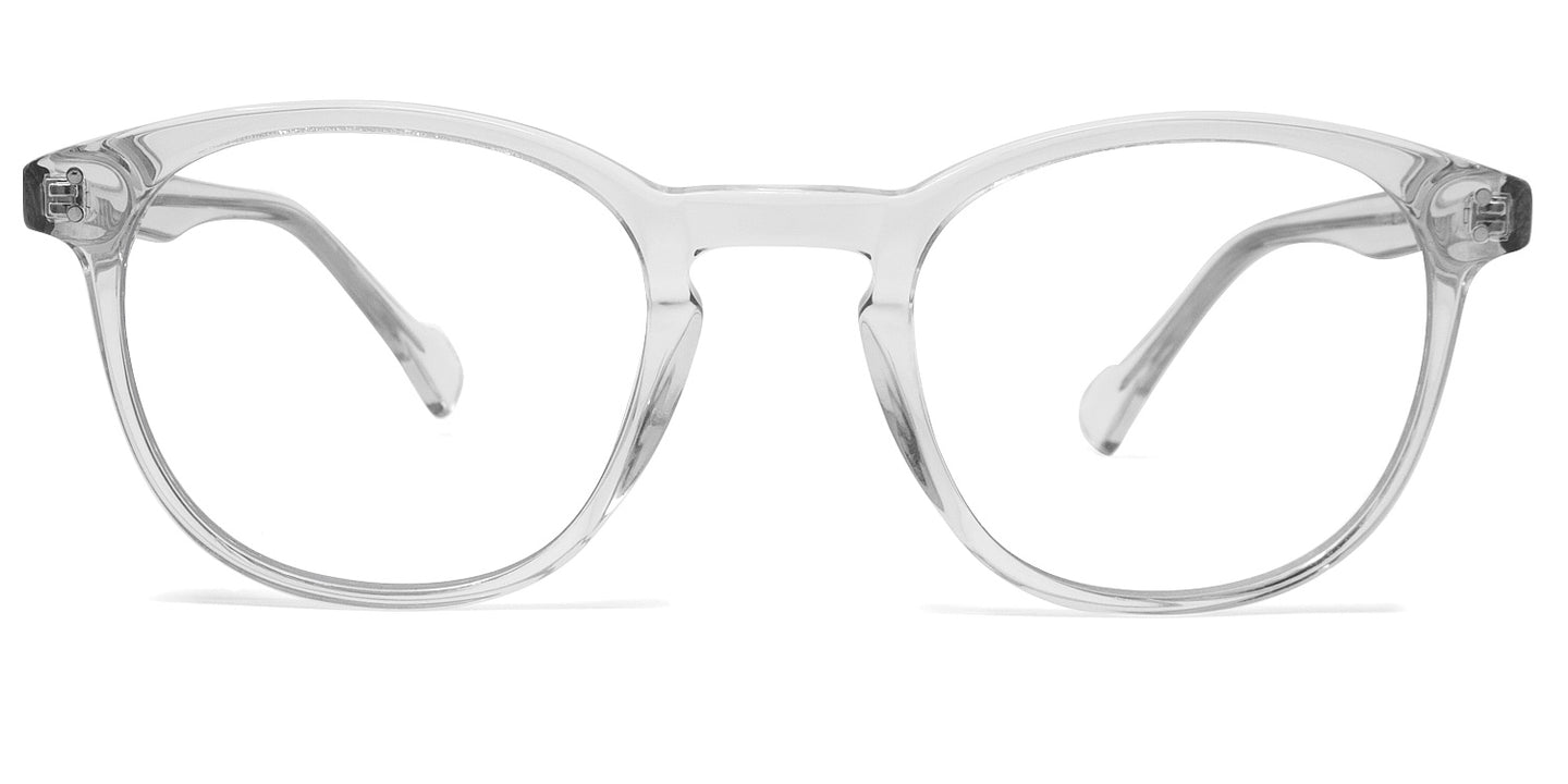 LUMES Danvers model blue light blocking computer glasses in transparent from front