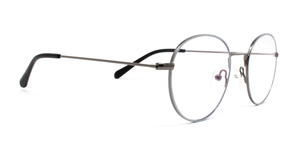 LUMES Parker model blue light blocking computer glasses in metal from angle