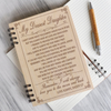 DAUGHTER DAD - I WILL ALWAYS LOVE YOU - WOODEN JOURNAL & PEN SET